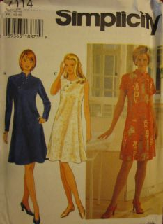 uncut simplicity pattern misses dress 7114 sewing oop more options