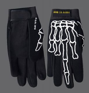 skeleton middle finger mechanic xl gloves