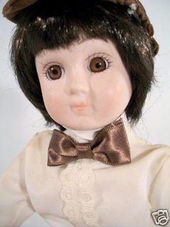 Brinn Brinns Porcelain Boy Doll School Boy Sitter Sitting Position