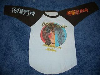 BILLY SQUIER DEF LEPPARD TOUR SHIRT/JERSEY Vintage 1980s Yes Rush