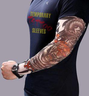 New Temporary Fake Tattoo Sleeve Stretchy Arm Stocking TS35