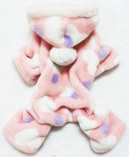 Good Warm Pink Small Pet Dog Clothes Pants jumpsuit Chest 33cm/13
