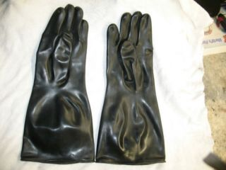 60 PAIR BLACK RUBBER LONG  GAME CLEANING GLOVES BIG SMALL SIZE