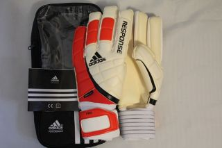 NEW SOCCER ADIDAS RESPONSE PRO AWESOME GOALKEEPER GLOVES SIZE 8 12