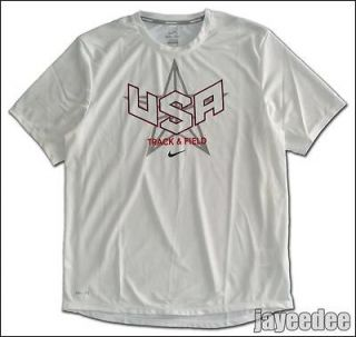 USA TRACK & FIELD RUNNING OLYMPIC SHIRT WHITE singlet M L XL 2XL