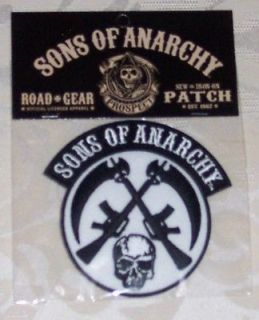 sons of anarchy skull guns embroidered patch time