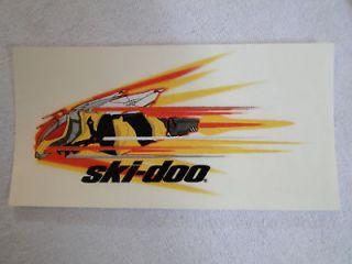 ski doo snowmobile tech bee sticker decal super cool time