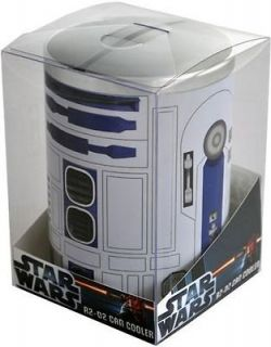 STAR WARS   R2 D2 Metal Can Cooler / Stubby Holder (Ikon) #NEW