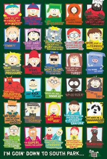 south park cast quotes large size poster new from united