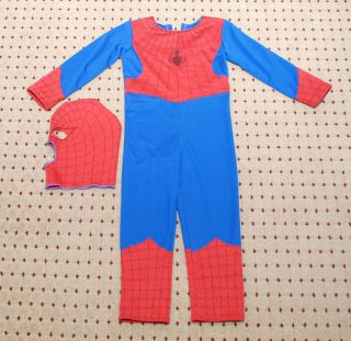 boys spiderman halloween costume jumpsuit outfit size 4t