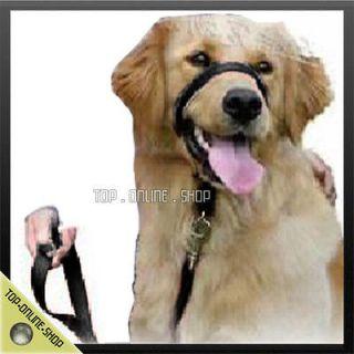 30 44lb Dog Pet Cat Black Nylon Headstall Halter style Collar Tranning