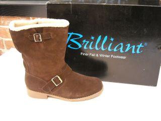 brilliant nikki brown suede buckle sporto boots