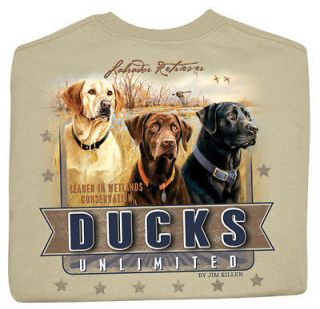 Ducks Unlimited Short Sleeve Crewneck T Shirt Great Hunting Dogs IV