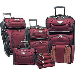 traveler s choice amsterdam 8 piece luggage set time left