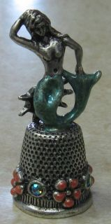 mermaid thimble b kirks folly new  19