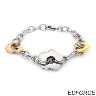 edforce stainless steel heart bracelet weight 27 0g one day