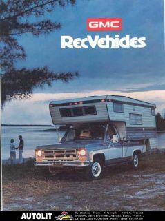 1975 gmc pickup camper travel trailer brochure