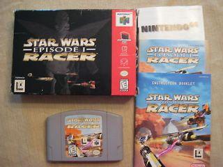 complete star wars episode 1 racer nintendo 64 n64 game