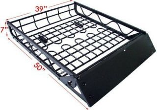 Newly listed Black Aluminum Universal Roof Basket Cargo Carrier Rack