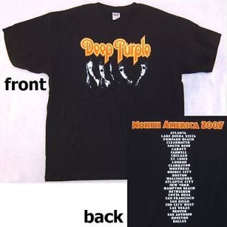 DEEP PURPLE BAND PIC 2007 US CDN TOUR T SHIRT 2XL NEW