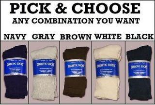 pair Pick and Choose Colors Mens New Diabetic crew socks Size 10  13