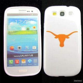 texas longhorns rubber skin case cover for samsung galaxy s