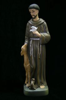 Saint St Francis of Assisi Italian Statue Sculpture Figurine Catholic
