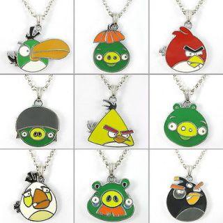 Lots 9pcs Lovely Bird & pig Necklace Girl Boy Kids Christmas Bag Gift