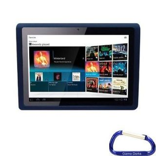 soft gel silicone skin case cover black for sony tablet