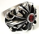 gothic knight templar cross sterling silver ring 10 5 buy