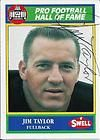 JIM TAYLOR SIGNED 1990 SWELL CARD~PRO FOOTBALL HALL OF FAME~GREEN BAY