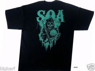 Sons of Anarchy {REAPER CREW } Licensed SOA 2 Sided SAMCRO T Shirt