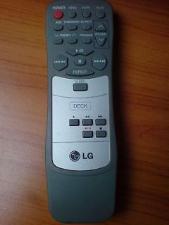 remote control unit for LG home audio tabletop stereo systems, deck