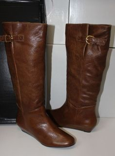 Steven by Steve Madden Intyce cognac brown leather tall boots NEW