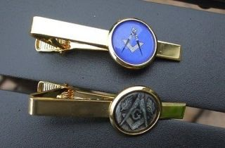 Tie Pin / Clasp MASONIC SQUARE & COMPASS (No G) Gold Plated