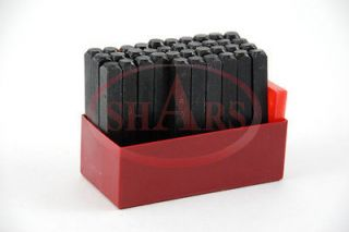 SHARS 1/4 Steel Punch Stamp Die Set Metal 36 Pc Numbers & Letters in