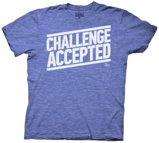 How I Met Your Mother T shirt   Challenge Accepted Adult Heathered
