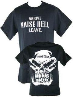 Stone Cold Steve Austin Arrive Raise Hell Leave Black T shirt