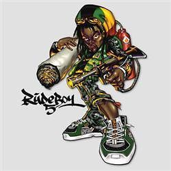Tshirt Rude Boy Rasta Reggae Hiphop Smoke Weed Gun DJ Turntable