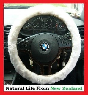sheepskin steering wheel cover in Steering Wheels & Horns