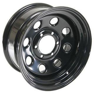 Summit Racing 85 Black Steel 8 Series Wheel 16x8 6x5.5 BC