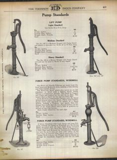 1916 ad myers windmill head force pump water well time