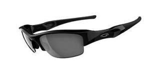 New Oakley Flak Jacket 03 881 Jet Black Frame / Black Iridium Lens