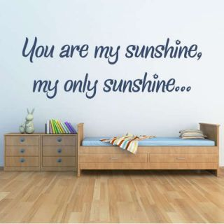 You are my sunshine bedroom nursery vinyl wall art sticker decal baby
