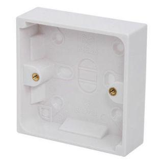 Wall Surface Mount Pattress Electrical Socket Back Box   Single 16mm