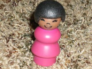 Fisher Price Little People Vintage Black Mom SUSAN Girl Sesame Street