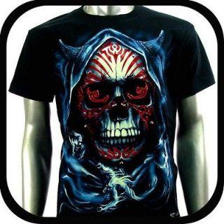 RC Survivor T Shirt Biker 3D Skull Tattoo T25 Sz XXXL 3XL Glow In The