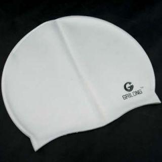 silicone swimming cap w bag swim gear comfort new gray