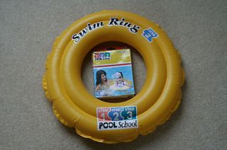 Deluxe Inflatable Swim Ring by Pool School   In Box   for 3 to 6yrs