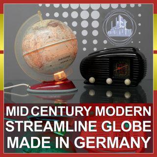 NICE MID CENTURY MODERN STREAMLINE DESIGN GLOBE GLOBUS POST ART DECO